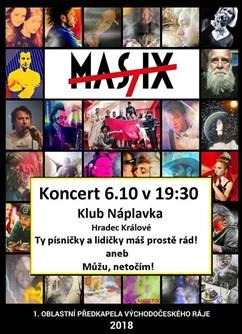 Mastix - říjnová evoluce- koncert v Hradci Králové -NáPLAVKA café & music bar, Náměstí 5.května 835, Hradec Králové
