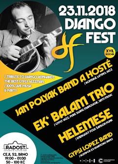 Django Fest / gypsy jazz / latino / alternative- Brno -Radost, Radlas / Cejl 52, Brno