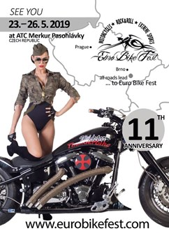 Euro Bike Fest 2019- festival Pasohlávky- Harlej, Walda Gang, Traktor, Gate Crasher, Morčata na útěku a další -ATC Merkur, Pasohlávky 114 E, Pasohlávky