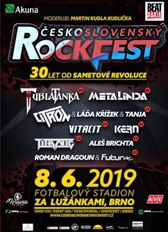 Československý Rockfest- festival Brno- Tublatanka, Metalinda , Citron a Láďa Křížek a Tanja, Vitacit, Kern, Titanic, Aleš Brichta a další -Stadion za Lužánkami, Drobného, Brno