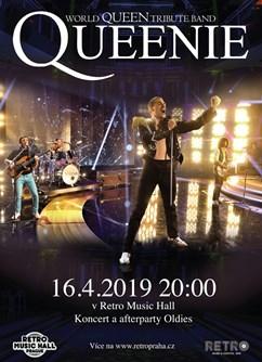 Queenie – World Queen Tribute Band- Praha -Retro Music Hall, Francouzská 75/4, Praha