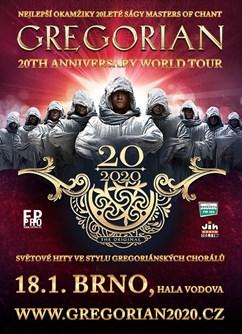 GREGORIAN - 20th Anniversary World Tour (BRNO)- koncert v Brně -Hala Vodova, Vodova 10, Brno