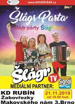 Šlágr Parta- koncert Brno -KD Rubín, Makovského náměstí , Brno