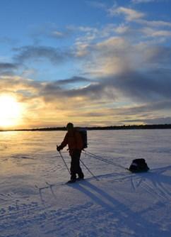 Přechod finského jezera Inari