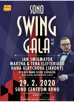 Sono Swing Gala- brněnský swingový večer za účasti Jana Smigmatora- koncert v Brně -Sono Centrum, Veveří 113, Brno