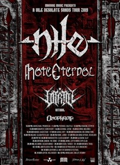Nile + Hate Eternal- koncert v Brně -Melodka, Kounicova 20/22, Brno