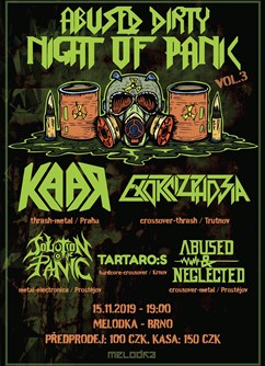Dirty Night Of Panic vol.3- Brno -Melodka, Kounicova 20/22, Brno