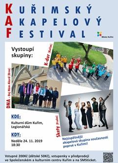 Skety a KAP - Kuřimský Akapelový Festival- Kuřim -Společenské a kulturní centrum, nám. Osvobození 902/1, Kuřim