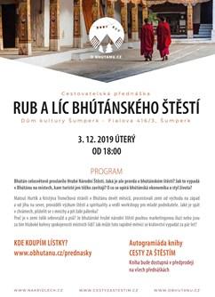Rub a líc bhútánského štěstí - Šumperk- Šumperk -Dům Kultury, Fialova 416/3, Šumperk