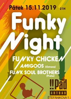 Funky Night podzim 2019- Brno -ArtBar Druhý Pád, Štefánikova 836/1, Brno
