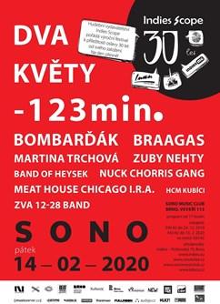 30 let hudebního vydavatelství Indies- festival v Brně- Zuby Nehty, ZVA 12-28 Band, -123min a další -Sono Centrum, Veveří 113, Brno