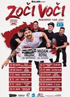 Movember Tour 2019- Zoči Voči, Náhodný Výběr, Madam Royal- koncert v Olomouci -S-Klub, Třída 17. listopadu 43, Olomouc