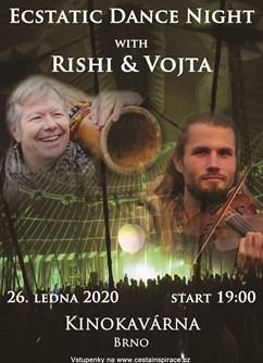 Ecstatic Dance Night s Vojtou Violinist & Rishim Vlote- Brno -Restaurace KINOKAVÁRNA, Nám SNP 3, Brno