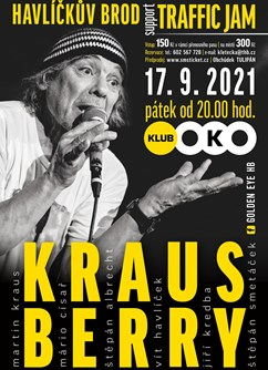 Krausberry, Traffic Jam / Golden_eye.hb- koncert Havlíčkův Brod -Klub OKO, Smetanovo nám. 30, Havlíčkův Brod