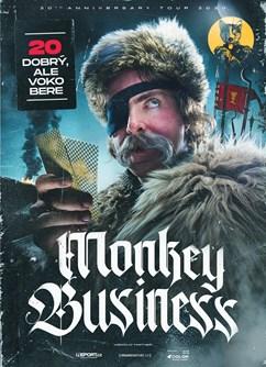 Monkey Business- koncert v Pardubicích -Music Club Žlutý pes, Ke koupališti 62, Pardubice