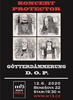 Protector, Götterdämmerung, D.O.P.- Brno -m13 rock hell, Benešova 22, Brno