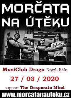 Morčata na útěku v MusiClub Drago- koncert v Novém Jičíně -MusiClub Drago, Hřbitovní 1097/24, Nový Jičín