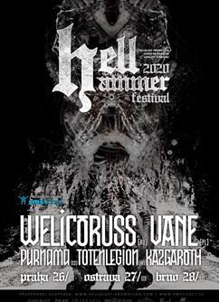 Hellhammer festival 2020 Praha- WELICORUSS [RU], VANE [PL], PURNAMA [CZ], TOTENLEGION [DE] -Vagon Klub, Národní 25, Palác Metro, Praha