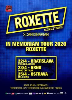 Roxette in Memoriam Tour 2020- Roxette Ultimate Tribute - koncert v  Ostravě -Multifunkční aula Gong, Ruská 2993, Ostrava