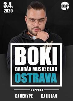 Boki- Ostrava- slovenský rapper a superfinalista 7. řady soutěže Česko Slovensko má talent -BARRÁK music club, Havlíčkovo Nábřeží 28, Ostrava