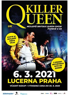 Killer Queen /UK/- Praha -Lucerna - Velký sál, Štěpánská 1, Praha