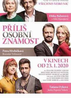 Příliš osobní známost- Svitavy -Kino Vesmír, Purkyňova 17, Svitavy