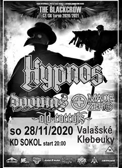 Hypnos / The Blackcrow Tour - koncert Valašské Klobouky -KD sokol, Dobrovského 40, Valašské Klobouky