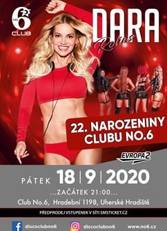 Dara Rolins / Narozeniny Clubu NO6 / WildCats- Uherské Hradiště -Club No6, Hradební 1198, Uherské Hradiště