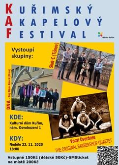 KAP - Kuřimský Akapelový Festival 2020- Kuřim -Společenské a kulturní centrum, nám. Osvobození 902/1, Kuřim