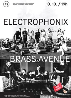Electrophonix a Brass Avenue- Hradec Králové -NáPLAVKA café & music bar, Náměstí 5.května 835, Hradec Králové