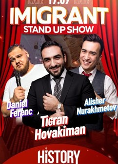Imigrant: Stand-Up Show- Praha -HISTORY Restaurant & Bar, Michalská 432/12, Praha