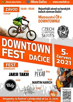 DOWNTOWN Fest Dačice 2021- festival Dačice- kapela Pekař, Jaksi Taksi, UDG a další -Letní scéna zámeckého parku, V Kaštanech, Dačice