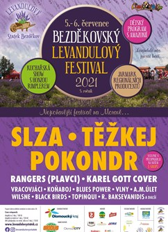 Bezděkovský levandulový festival 2021- Úsov- Slza, Těžkej Pokondr, Rangers(Plavci) a další -Levandulový statek Bezděkov, Bezděkov 6, Úsov