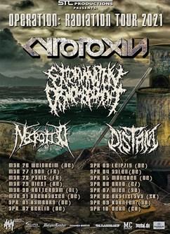 Cytotoxin, Extermination Dismemberment, Necrotted, Distant- Brno -Melodka, Kounicova 20/22, Brno