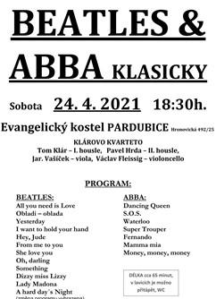 Beatles a ABBA klasicky- Pardubice -Evangelický kostel , Hronovická 492/25, Pardubice