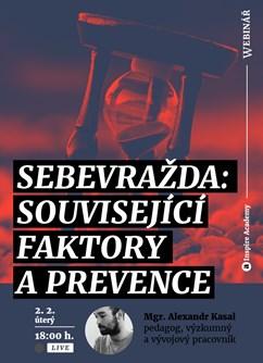 Webinář: Sebevražda: související faktory a prevence- Online -Live stream, přenos, Online