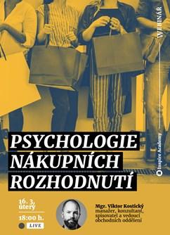 Webinář: Psychologie nákupních rozhodnutí- Online -Live stream, přenos, Online