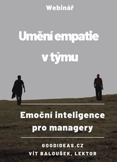 Umění empatie v týmu aneb EMOČNÍ INTELIGENCE pro managery- Online -Zoom, konference, Online