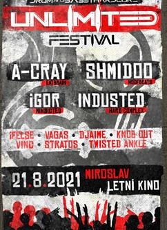 UNLIMITED Festival - Miroslav- 10 Drum&Bass a Hardcore Djs -Letní kino, Malinovského, Miroslav