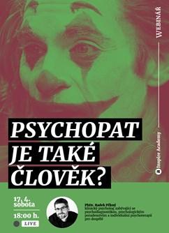 Webinář: Psychopat je také člověk?- Online -Live stream, online přenos, Online