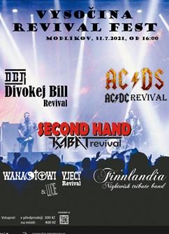 Vysočina Revival FEST 2021- festival Modlíkov- AC/DS (AC/DC revival), Second hand Kabát revival, Divokej Bill revival a další -FC Dělo Modlíkov, Modlíkov 62, Modlíkov