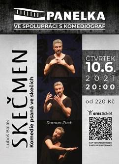 Skečmen- Luleč- divadelní představení- hraje Roman Zach -Panelka, Luleč 310, Luleč