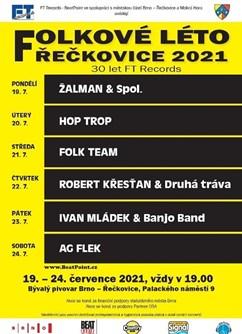 Robert Křesťan & Druhá tráva - Folkové léto Řečkovice 2021- koncert v Brně -Amfiteátr