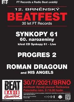 12. Brněnský Beatfest 2021 - 30 let FT Records- festival v Brně- Synkopy 61, Progres 2, Roman Dragoun -Amfiteátr