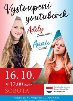 Adéla Zouharová a Annie Camel- Brno -Společenské centrum Bystrc, Odbojářská 2, Brno