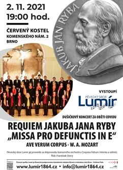 Dušičkový koncert za oběti covidu- Brno -Červený kostel, Komenského nám. 4, Brno