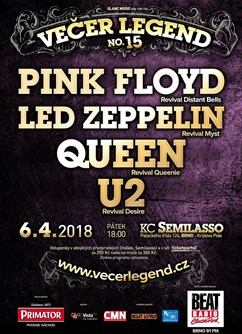 15. Večer Legend - U2, Queen, Pink Floyd, Led Zeppelin
