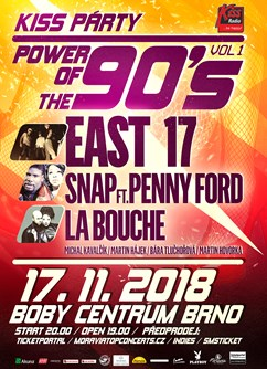 The Power of 90s: East 17, La Bouche, Snap! feat. Penny Ford