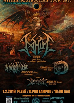 Within Destruction tour 2019 (NAHUM, Inner Sphere, Purnama)