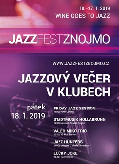 Jazzový večer v klubech: Friday Jazz Session